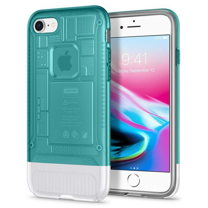 【iPhone8/7ケース】Spigen Classic C1 ボンダイブルー iPhone 8/7_0