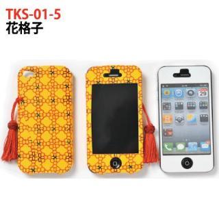 京包美袱紗型 花格子 iPhone4/4s