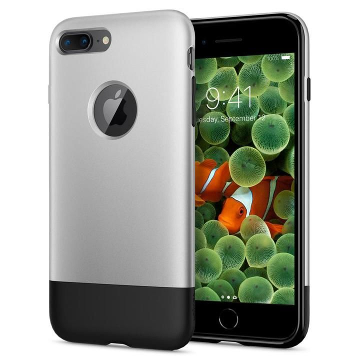 【iPhone8 Plus/7 Plusケース】Spigen Classic One 背面ケース Aluminum グレイ iPhone 8 Plus/7 Plus_0