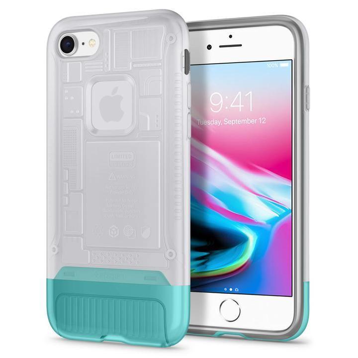 【iPhone8/7ケース】Spigen Classic C1 スノー iPhone 8/7_0