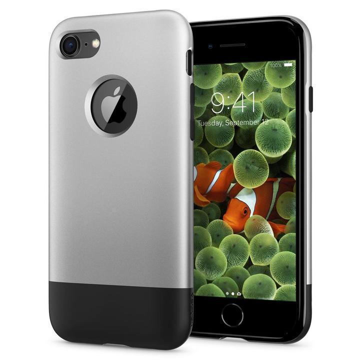 iPhone8/7 ケース Spigen Classic One 背面ケース Aluminum グレイ iPhone 8/7_0