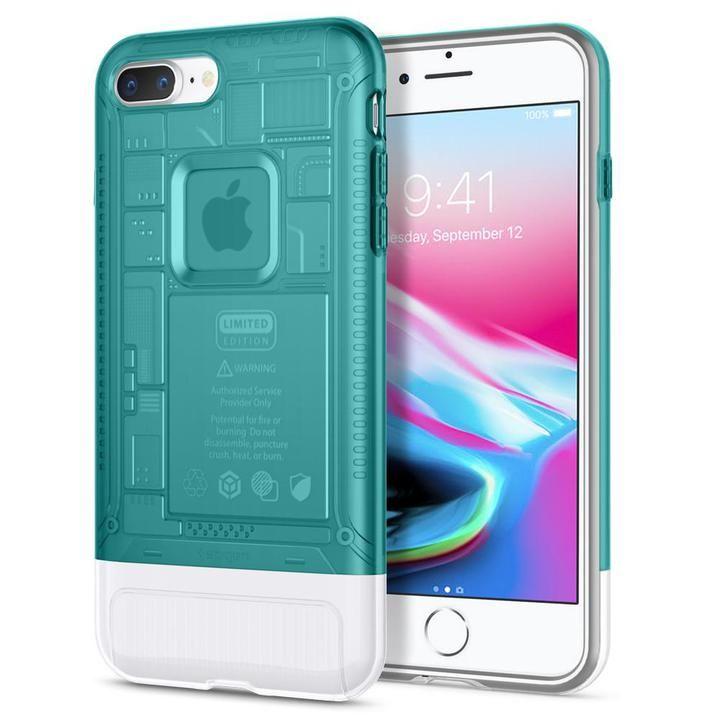【iPhone8 Plus/7 Plusケース】Spigen Classic C1 ボンダイブルー iPhone 8 Plus/7 Plus_0