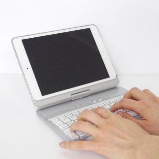 [学園祭特価]ハードケース一体型Bluetoothキーボード iPad mini シルバー
