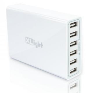[iPhone発表記念特価]6ポートUSB充電アダプタ XLight 合計最大12A出力 ホワイト