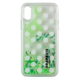 iPhone XS/X ケース FRAPBOIS LIMITED グリッターケース NEON GREEN iPhone XS/X