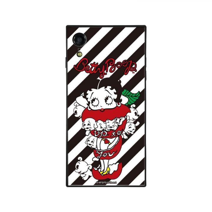iPhone XR ケース yanagida masami × BETTYBOOP スクエア型 ガラスケース モギタテボイスがはにかむゴキゲンベティST iPhone XR【9月下旬】_0