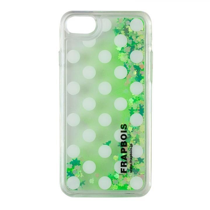 iPhone8/7/6s/6 ケース FRAPBOIS LIMITED グリッターケース NEON GREEN iPhone 8/7/6s/6_0