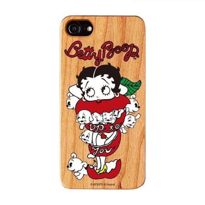 iPhone8/7/6s/6 ケース yanagida masami × BETTYBOOP ウッドケース モギタテボイスがはにかむゴキゲンベティ iPhone 8/7/6s/6_0