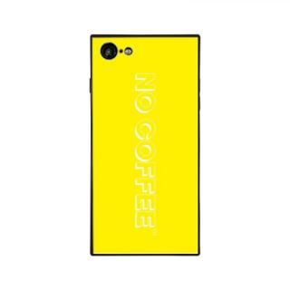 iPhone8/7 ケース NO COFFEE  NC LOGO スクエア型 ガラスケース YELLOW/WHITE iPhone 8/7【10月下旬】