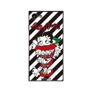 iPhone8/7 ケース yanagida masami × BETTYBOOP スクエア型 ガラスケース モギタテボイスがはにかむゴキゲンベティST iPhone 8/7【9月上旬】