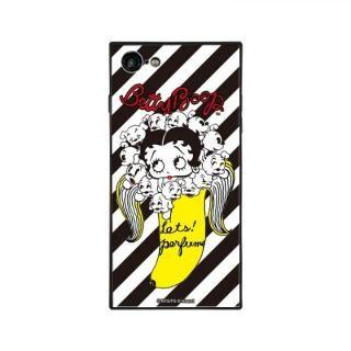 iPhone8/7 ケース yanagida masami × BETTYBOOP スクエア型 ガラスケース パフューム日和に囁く気まぐれベティST iPhone 8/7【9月上旬】