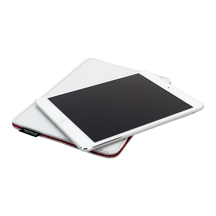 職人が作るレザースリーブ for iPad mini  ホワイト別注_0