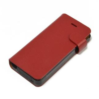 Leather Battery 手帳型ケース  iPhone5 Red