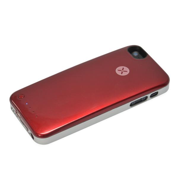 【iPhone SE/5s/5ケース】[2000mAh]バッテリー内蔵ケース XPower Skin レッド iPhone SE/5s/5ケース_0