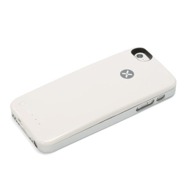 iPhone SE/5s/5 ケース [2000mAh]バッテリー内蔵ケース XPower Skin ホワイト iPhone SE/5s/5ケース_0
