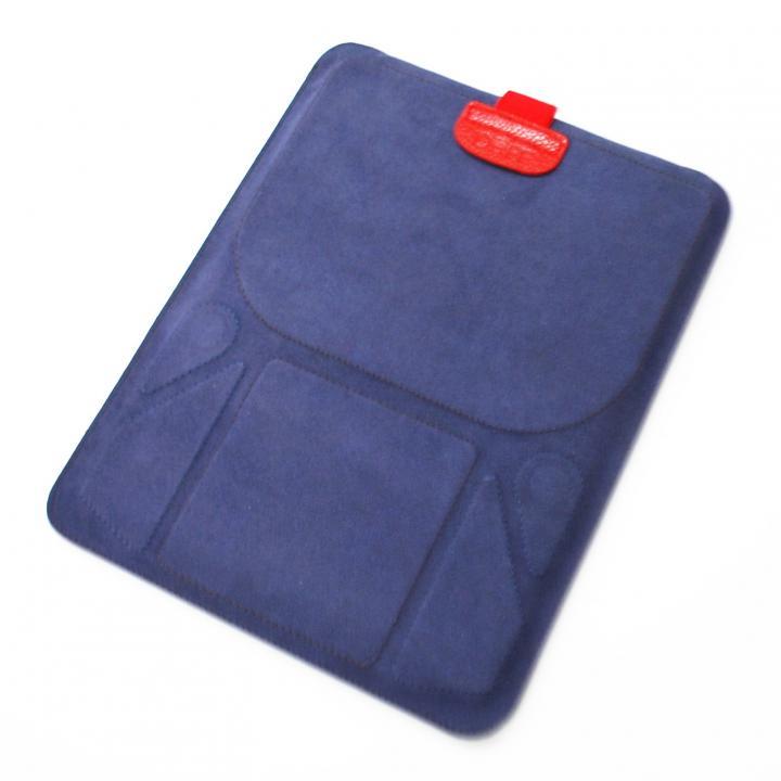 スタンド機能付きスリーブケース deff Color Pelican ネイビー&ブラウン iPadケース_0