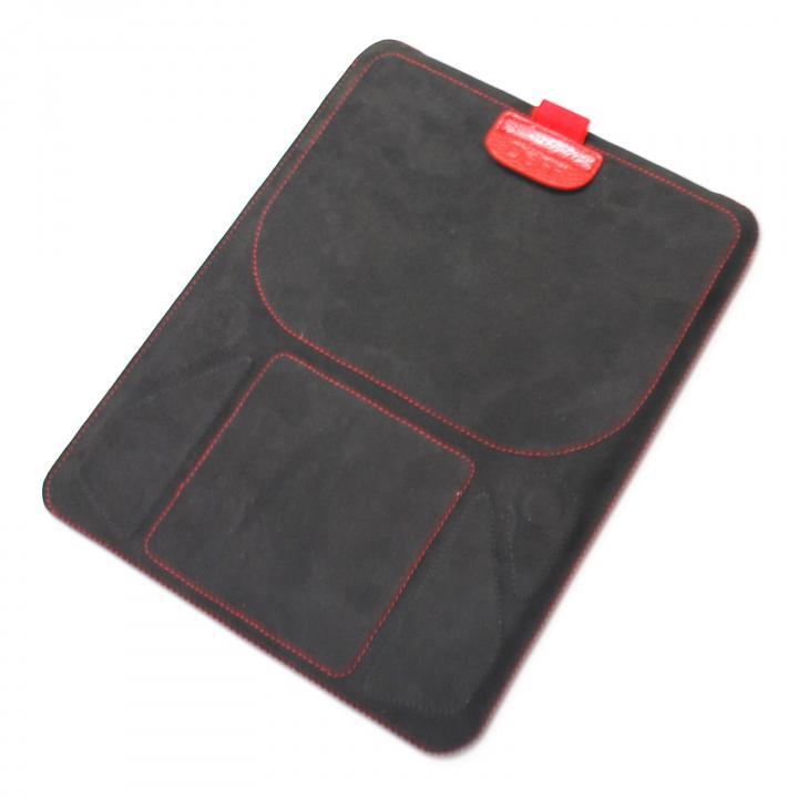 スタンド機能付きスリーブケース deff Color Pelican ブラック&レッド iPadケース_0