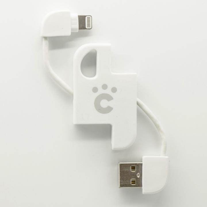 cheero Plate Cable キーホルダー型Lightningケーブル ホワイト_0