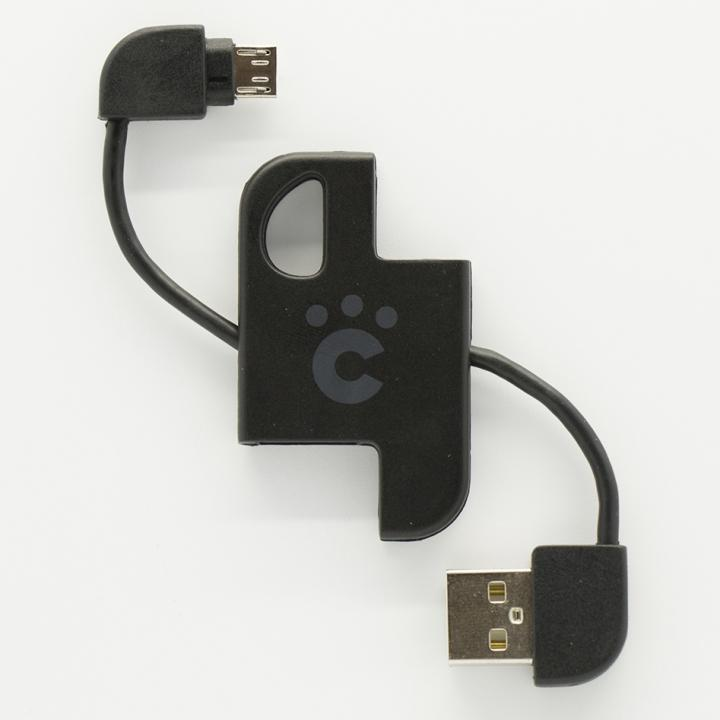 cheero Plate Cable キーホルダー型microUSBケーブル ブラック_0