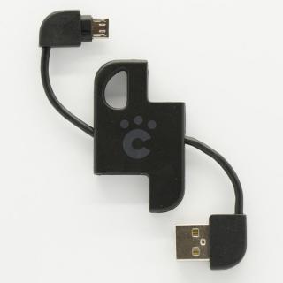 cheero Plate Cable キーホルダー型microUSBケーブル ブラック
