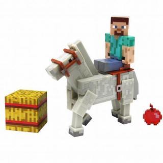 マインクラフト アクションフィギュア スティーブと馬