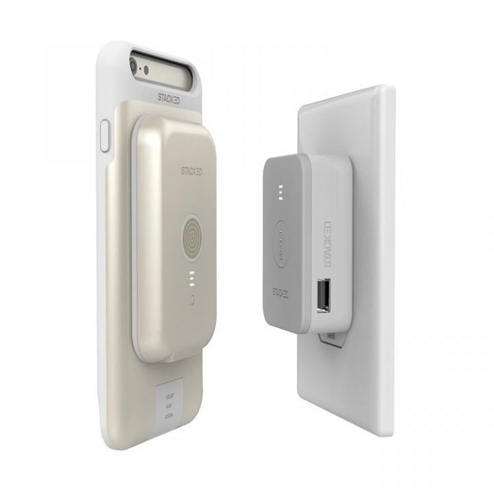 iPhone6s/6 ケース STACKED スタックド  ワイヤレス充電ケース セットモデル iPhone 6s/6 ゴールド_0
