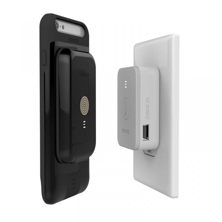 【iPhone6s/6ケース】STACKED スタックド  ワイヤレス充電ケース セットモデル iPhone 6s/6 ブラック_0