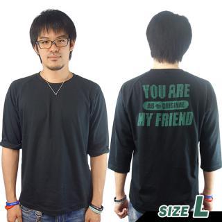 AppBank 7分袖Tシャツ ブラック Lサイズ【8月下旬】