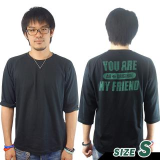 AppBank 7分袖Tシャツ ブラック Sサイズ