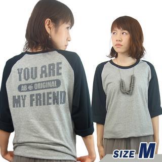 AppBank 7分袖Tシャツ ヘザーグレー×ブラック Mサイズ【8月下旬】
