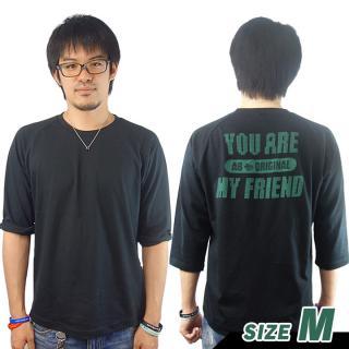 AppBank 7分袖Tシャツ ブラック Mサイズ【8月下旬】