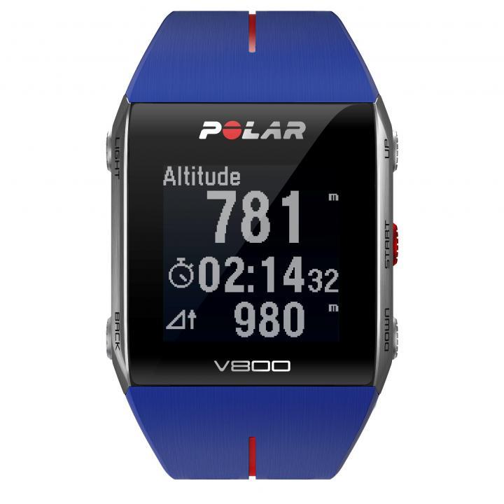 トレーニングをサポートする V800 HR ブルー(心拍センサー付)