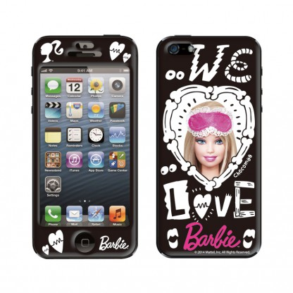 Gizmobies Chocomoo WE LOVE BARBIE iPhone SE/5s/5 スキンシール