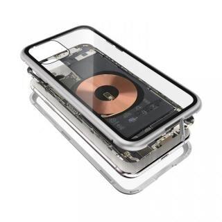 iPhone 11 Pro ケース Transparent Alluminio 2020 シルバー ゴリラガラス+アルミバンパー iPhone 11 Pro
