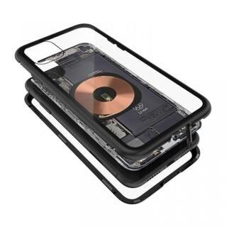 iPhone 11 ケース Transparent Alluminio 2020 ブラック ゴリラガラス+アルミバンパー iPhone 11