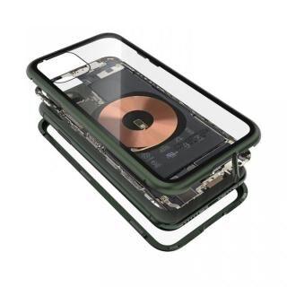 iPhone 11 Pro ケース Transparent Alluminio 2020 グリーン ゴリラガラス+アルミバンパー iPhone 11 Pro