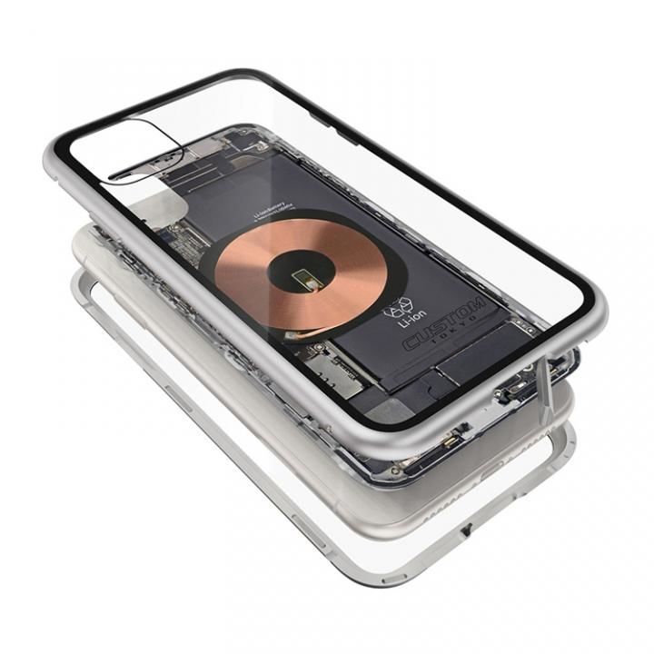 iPhone 11 ケース Transparent Alluminio 2020 シルバー ゴリラガラス+アルミバンパー iPhone 11_0