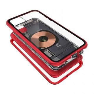 iPhone 11 ケース Transparent Alluminio 2020 レッド ゴリラガラス+アルミバンパー iPhone 11