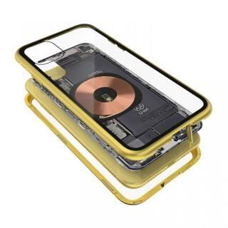 iPhone 11 ケース Transparent Alluminio 2020 イエロー ゴリラガラス+アルミバンパー iPhone 11