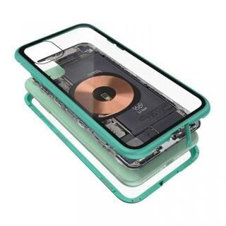 iPhone 11 ケース Transparent Alluminio 2020 グリーン ゴリラガラス+アルミバンパー iPhone 11