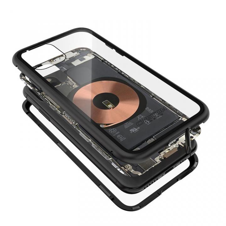 iPhone 11 Pro Max ケース Transparent Alluminio 2020 ブラック ゴリラガラス+アルミバンパー iPhone 11 Pro Max_0