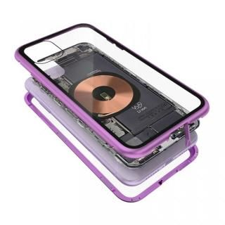 iPhone 11 ケース Transparent Alluminio 2020 パープル ゴリラガラス+アルミバンパー iPhone 11
