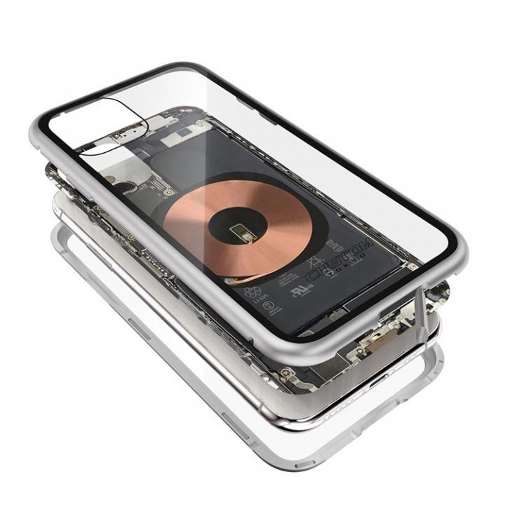 iPhone 11 Pro Max ケース Transparent Alluminio 2020 シルバー ゴリラガラス+アルミバンパー iPhone 11 Pro Max_0