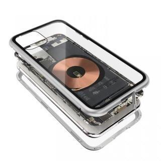 iPhone 11 Pro Max ケース Transparent Alluminio 2020 シルバー ゴリラガラス+アルミバンパー iPhone 11 Pro Max