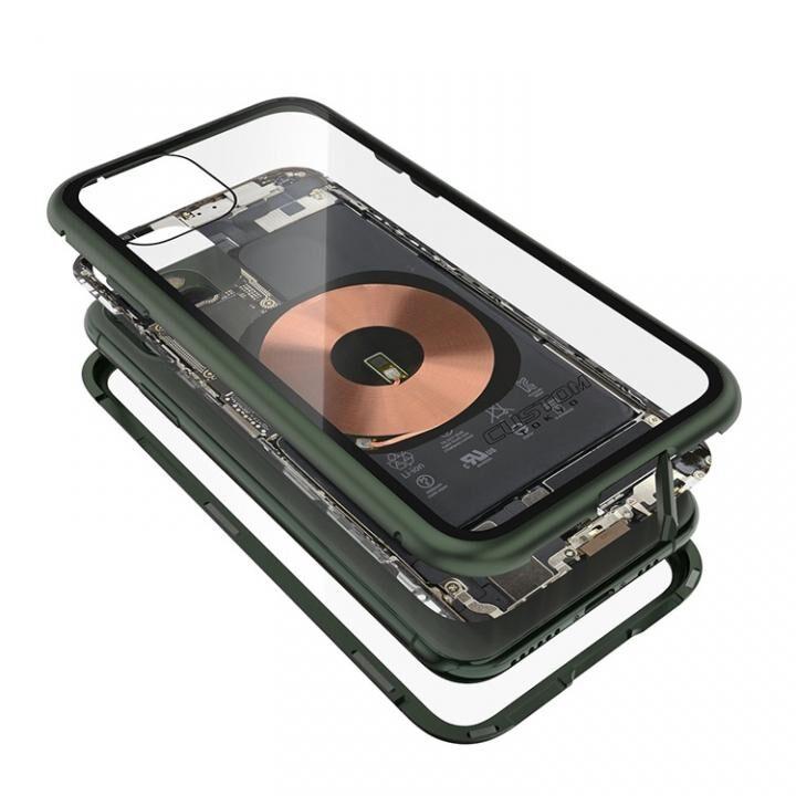 iPhone 11 Pro Max ケース Transparent Alluminio 2020 グリーン ゴリラガラス+アルミバンパー iPhone 11 Pro Max_0