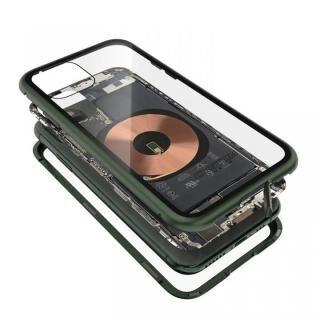 iPhone 11 Pro Max ケース Transparent Alluminio 2020 グリーン ゴリラガラス+アルミバンパー iPhone 11 Pro Max