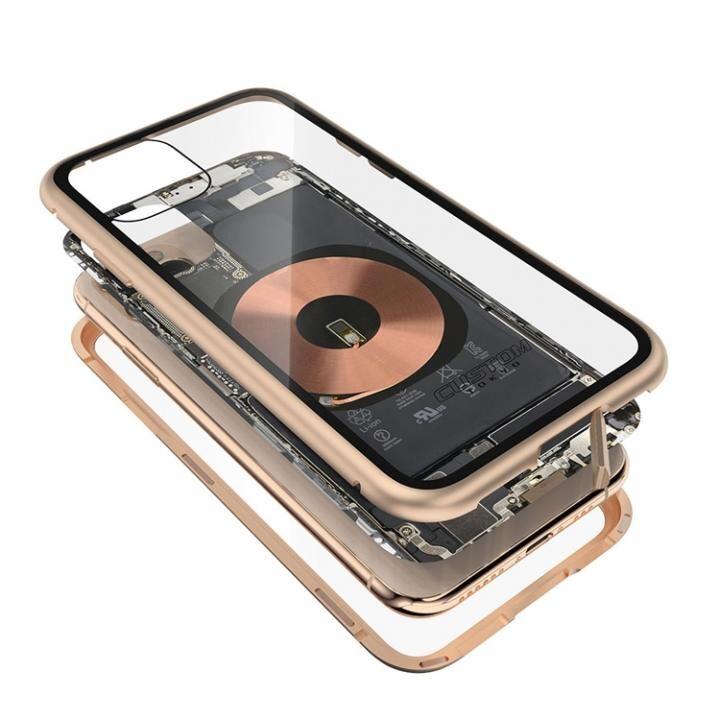 iPhone 11 Pro Max ケース Transparent Alluminio 2020 ゴールド ゴリラガラス+アルミバンパー iPhone 11 Pro Max_0