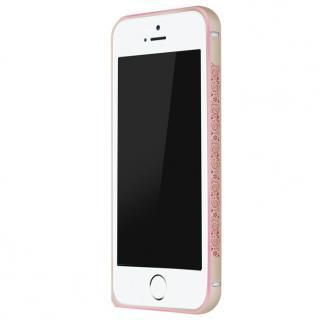 電波干渉を抑えたアルミバンパー ibacks Arc ゴールド&ペイズリー iPhone SE/5s/5バンパー