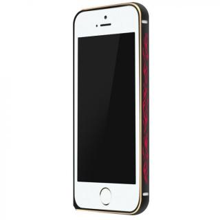 電波干渉を抑えたアルミバンパー ibacks Arc ブラック&ファイア iPhone SE/5s/5バンパー