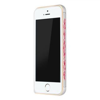 電波干渉を抑えたアルミバンパー ibacks Arc シルバー&ファイア iPhone SE/5s/5バンパー